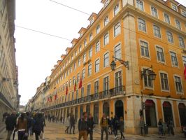 Downtown Lisbon by MaggH