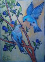 BlueBirds and the BlueBerry Tree by l-gray-l