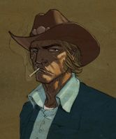 Zeke of Cowboys and Aliens by jeffwamester