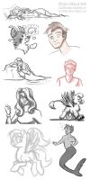 February sketch dump- part 1 by solitaryzombie