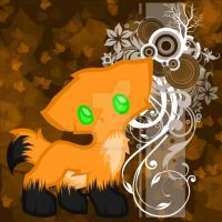 Fall Chibi Fox by NovaEmbersin