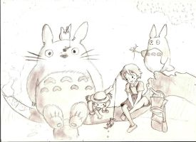 My Neighbour Totoro :3 by A-Black-Angel