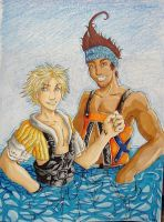 Wakka and Tidus- Contest piece by Demyrie
