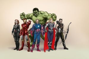 Avengers Sketch by imageconstruct