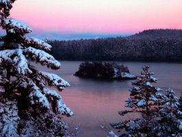 Whidbey Island:  Snowy Sunset by Photos-By-Michelle