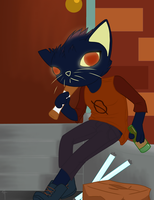 Night in the Woods: Mae by ArtificeBlade