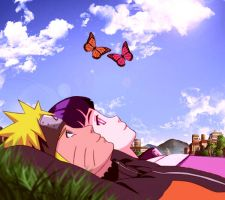 NaruHina lovely summer day by 777luck777