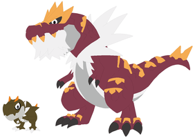 Tyrunt and Tyrantrum Base by SelenaEde