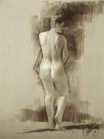 Paul Temple  Figure Drawing by theartdepartment