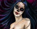 SUGAR SKULL GIRL by mari82giac