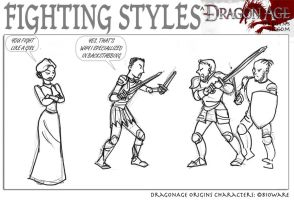 DAO: Fighting Styles by SoniaCarreras