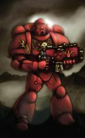 blood angel space marine by johnjackman