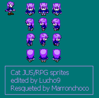 Cat  JUS/RPG sprites by Lucho9