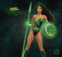 Wonder Woman Emerald Amazon by cmeza