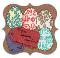 Fabric Easter Eggs -CU Freebie by Kathery