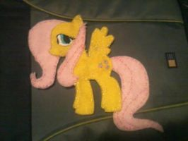 Fluttershy Felt plushie by SweetMoogily