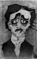 Poe Caricature by Austin-Hodge