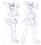 Sketch - a confounding flower pose by ErinPtah