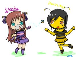 Comission: Cassie and the bee by Ivy-Desu