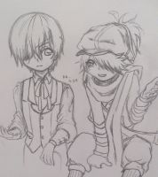 Ciel is not amused with your mail shenanigans by HunterK