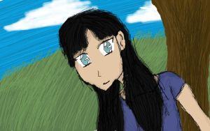 Doodle of a girl by Akyia