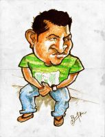 Caricature of my Friend Shinod by libran005