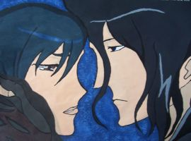 Blood+:Haji and Saya :Painted: by AelVampire
