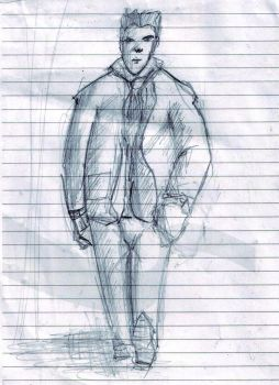 Sketch of a man by xotics