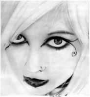 girl No 9 graphite by EwaBlackWidowVsHare