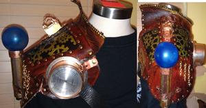 Steampunk Shoulder Armor WIP 2 by MonkeyHeartless