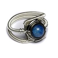 Steampunk Ring silver Blue by CatherinetteRings
