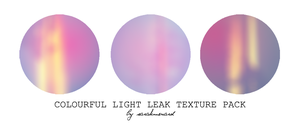 Colourful Light Leak Texture Pack by SarahMenard