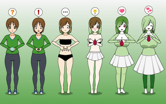 Psychic Feelings: Gardevoir TF TG Sequence by greenflame456