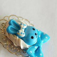 Blue Bunny Brooch by AndyGlamasaurus