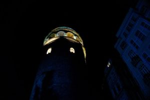 Galata Tower in night by MaxCrandale