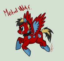 Metal Wolf - MWG Ponysona by issabissabel