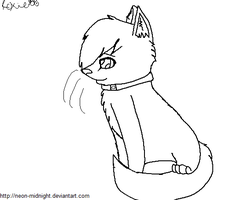 MS Paint friendly Cat Free Lineart by Snow-Leopard-Roxie