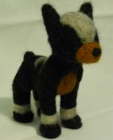 Needle Felted Houndoom by MintyKitty-chan