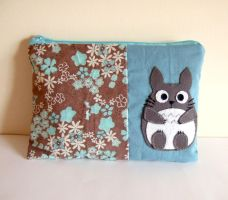 Totoro blue pouch by yael360