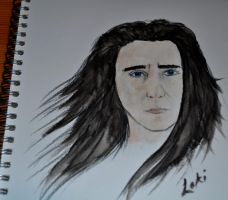 5th Dabble with Watercolours - Loki by Forestina-Fotos