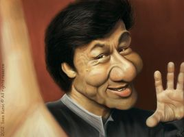 Jackie Chan caricature by SigmaK