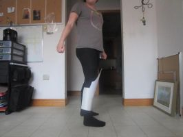 Black Frequency costume/lower leg piece 1 by Redrosesforever