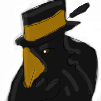 Crow with Top Hat by Roxyielle