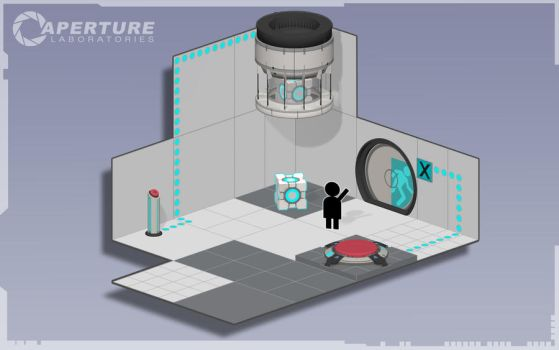 Portal 2 Test Chamber by Audrey-2
