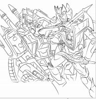 WIP Collab line art by ArwingPilot114