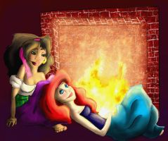 Evening By The Fire by Frankie-Freak3