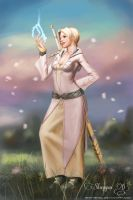 Mabinogi - Lightning Mage by Shintenzu