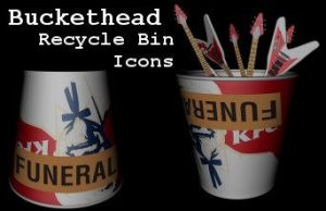 Buckethead Recycle Bin Icons by 100SeedlessPenguins