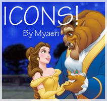 Beauty and the Beast Icon Set by myaen