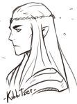 Badass Thranduil sketch by Kibbitzer